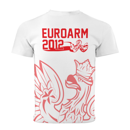 EUROARM 2012 TOURNAMENT T-SHIRT - WHITE # Armwrestling Shop # Armpower.net